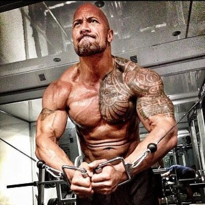 dwayne johnson workout training