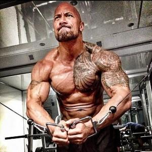 dwayne johnson workout training