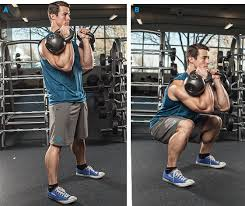 Front Squats with Two Kettlebells