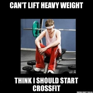 heavy weight crossfit joke
