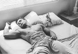 sleeping bodybuilder