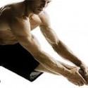 bodybuilder stretching
