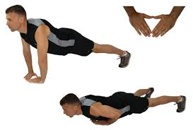Triangle push ups