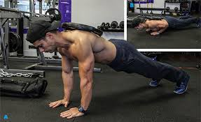 Weighted push-ups