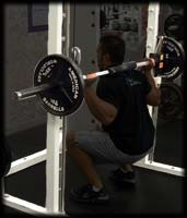 squat in power rack