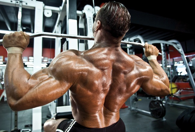 bodybuilder with great back