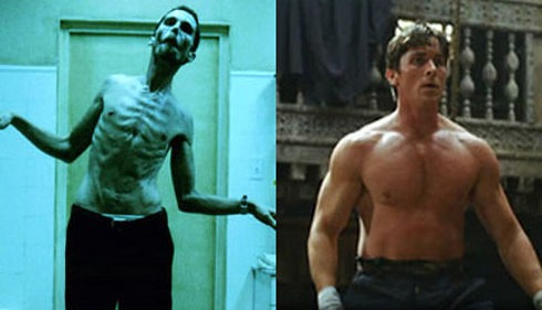 Christian Bale's body transformation before and after