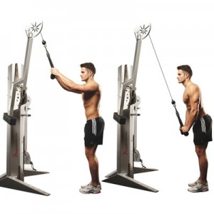 Double Arm Rope Pushdowns