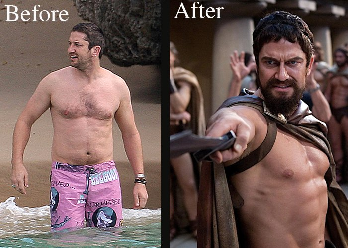 gerard butler before and after body transformation