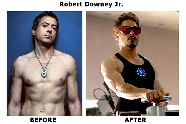 robert downey jr body transformation