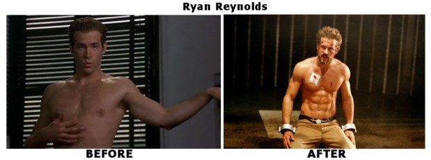 ryan reynolds before and after body transformation