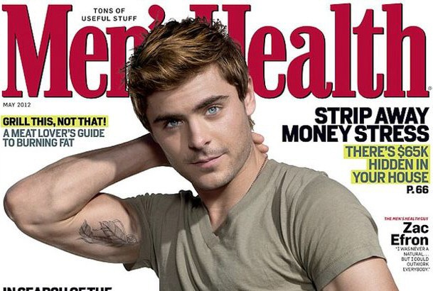 zac efron in men's health magazine