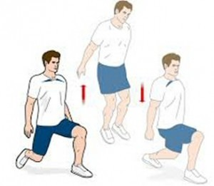 Alternating box jump