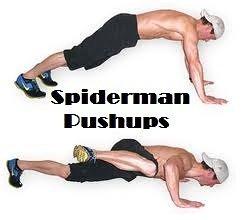 Spiderman push-ups